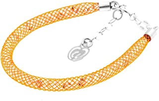 Bracciale Arancio in Argento 925 con Cristalli Luminosi Collezione Tennis