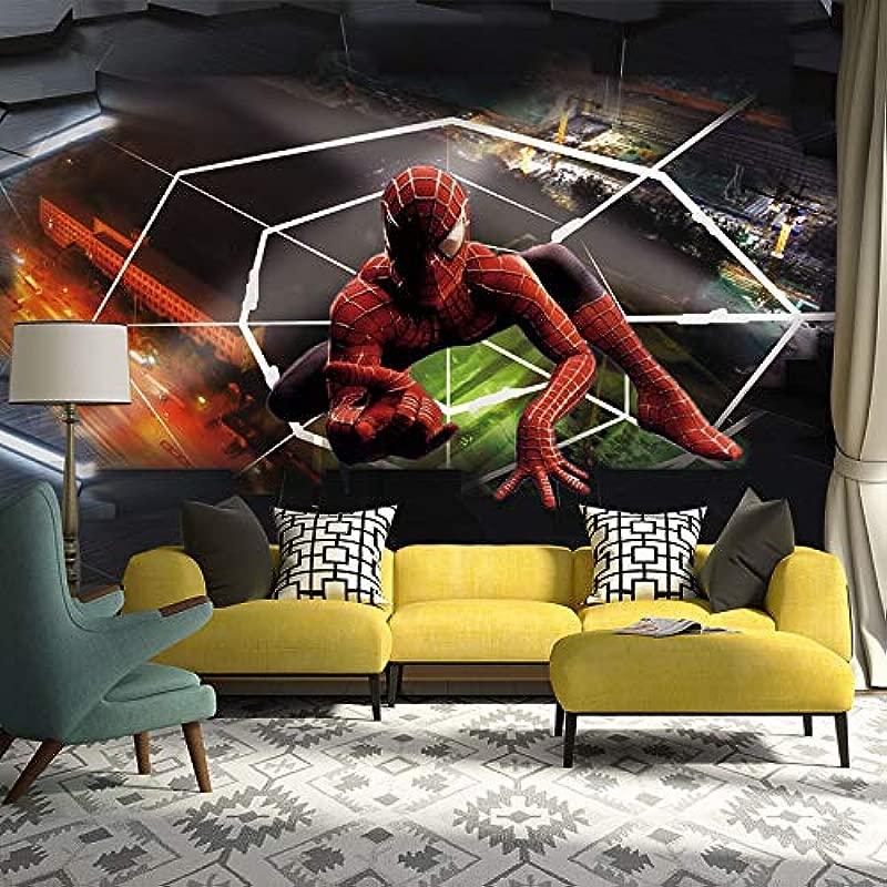 Spiderman Po Wallpaper Murals Modern 3D Wall Papers Children S Room Living Room Bedroom Vinyl Wallpaper Zxfcccky 280X200CM