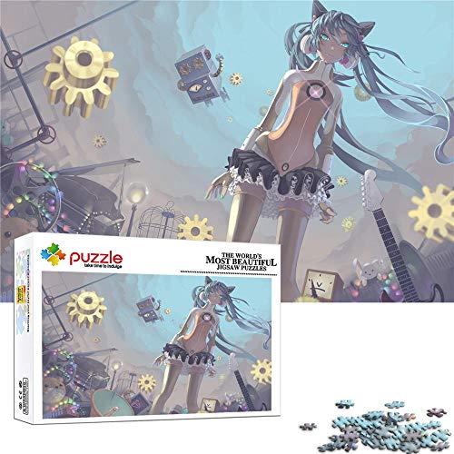 FFGHH Puzzles 1000 Piezas Personajes De Anime Jigsaw Puzzle Mini Puzzle Infantil 3 Años Regalo De Cumpleaños Recomendado para Amigo Niños Adultos 38Cm X 26Cm