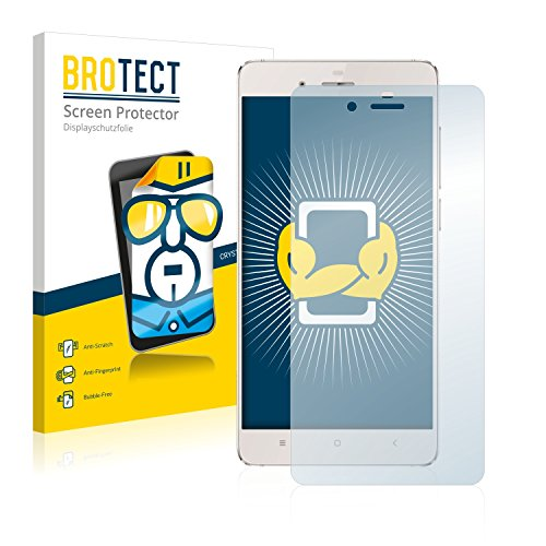 BROTECT Schutzfolie kompatibel mit Doogee Europa F3 (2 Stück) klare Bildschirmschutz-Folie