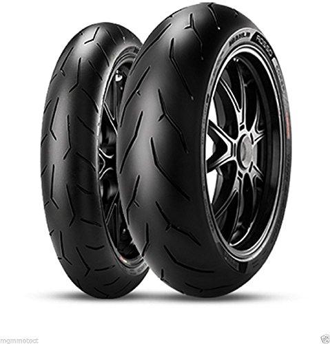 MGM Paire de pneus Pirelli Diablo Rosso Corsa 120/70 17 190/55 17 Aprilia RSV4 100