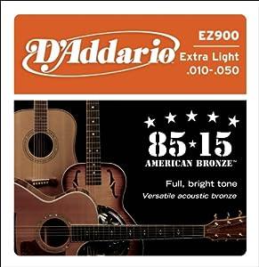 CUERDAS GUITARRA ACUSTICA - D´Addario (EZ/900) Extra Lite Bronce 85/15 (Juego Completo 010/050) CUERDAS GUITARRA ACUSTICA D´Addario EZ-900-85 15