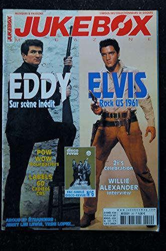 JUKEBOX 240 * 2007 * EDDY ELVIS Fac Similé Disco Revue Les Chats Sauvages