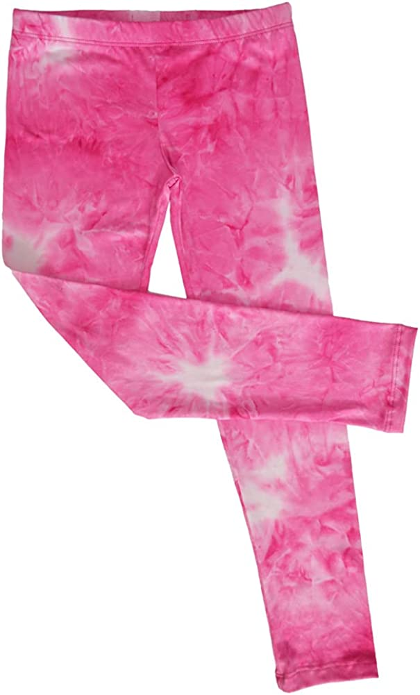 TwirlyGirl Pink Fuchsia Tie Dye Leggings for Kids Super Soft Cute Fun USA Made