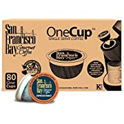 San Francisco Bay OneCup, Espresso Roast, 80 Count- Single Serve Coffee, Compatible with Keurig K-cup Brewers