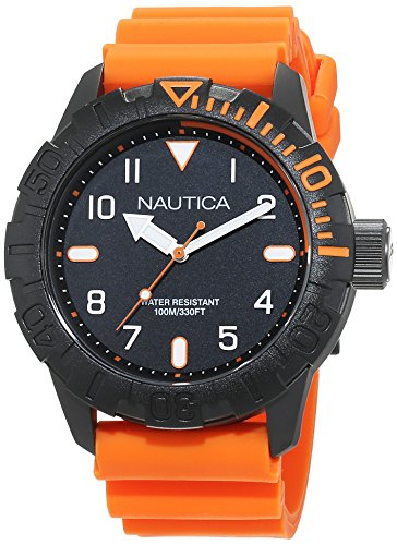 Nautica Herrenuhr Analog Quarz mit Silikonarmband – NAD10082G