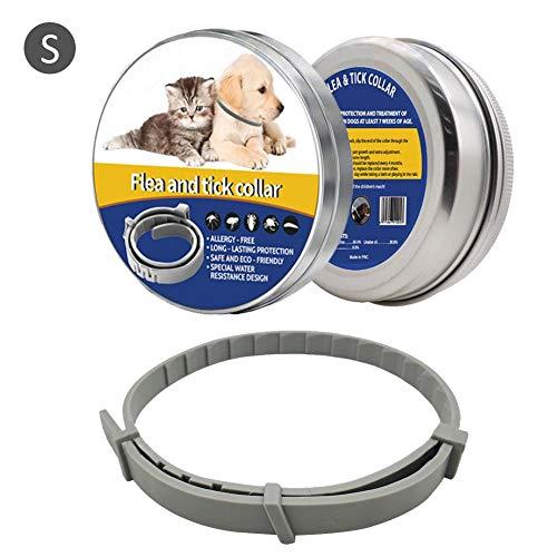 Meetforyou Collar Antiparasitos Perros,Prevención de pulgas y garrapatas para Perros, Gatos contra la pulga para Perros, Fórmula Natural Ajustable Collares para el Control de plagas de Mascotas