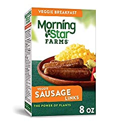 Kellogg's Morningstar Farms Sausage Links - Clean Eating Made Easy, Vegetarian, Kosher Dairy, 8 oz B