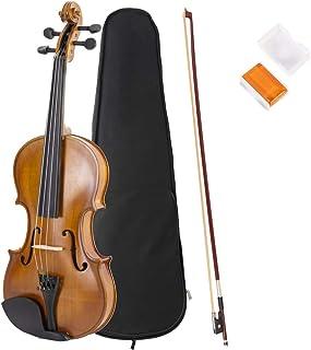 JMFinger 4/4 Full Size Vilion, Handcrafted Acoustic Violin Beginner Kit with Hard Foamed Case, Bow, Rosin, Great for Kids ...