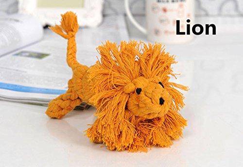 Chickwin Hund Spielzeug, Haustier Hund geflochten Seil Spielzeug Welpen Kauen dauerhafte interaktive Zahngesundheit Zähne Reinigung für kleine/mittelgroße Hund Bissen Spielzeug (Löwe)