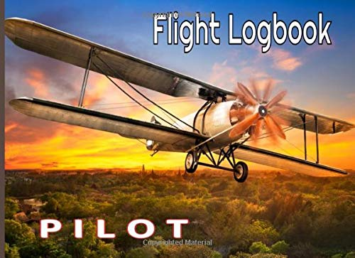 Flight logbook pilot: Booklet (EASA compliant) for professional, private or amateur pilots, (Plane, ULM, Helicopter, Glider...) Record all flight data