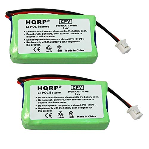 HQRP 2-Pack Battery Compatible with Dogtra BP74R AE552438P6H DC-34 AE562438P6H, 2300-NCP Advance, 2302-NCP Advance, 2500-T&B, 2502-T&B, 3500-NCP Super-X Dogtra Replacement