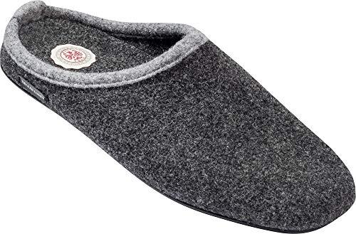 Tiroler Loden Merino-Filzpantoffel, Bequeme Hausschuhe für Herren & Damen, Filz-Puschen für zuhause, Pantoffeln mit ergonomischem Fußbett zum Wohlfühlen, Gr. 37-46