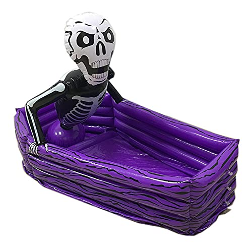 luning Inflatable Coffin Ice Bucket- Inflatable Ice Serving Bar Coolers For Parties,Floating Row Summer Pool Beach Seaside Inflatable Coffin Ice Bucket Halloween Bar Supplies best service