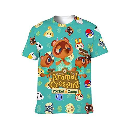 Animal Cro-ssing - Camiseta de manga corta para mujer y hombre, diseño informal, cuello redondo, suave y moderno, para niños y niñas (S-4XL)