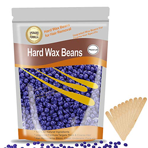 Wax Beads for Hair Removal, Wax Beans for Brazilian Waxing, Hard Wax Beads for Sensitive Skin Facial, Eyebrow, Bikini, Wax Beans for Brazilian waxing, At Home Hard Wax Beans for Women Men