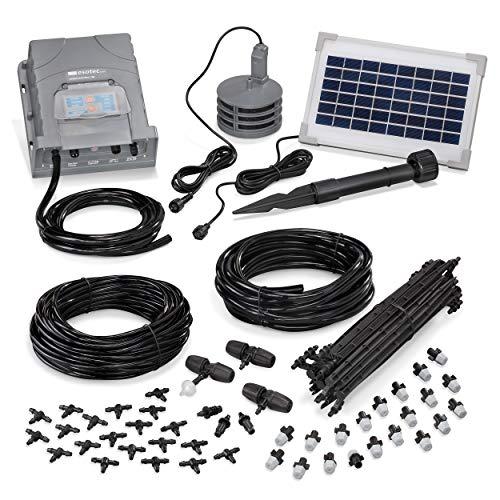 esotec Solar Bewässerungssystem WaterSpray Professional - automatische Bewässerung über bis zu 20 Sprühnebel-Düsen - einfach und individuell anpassbar - für Garten und Kübelpflanzen (101122)