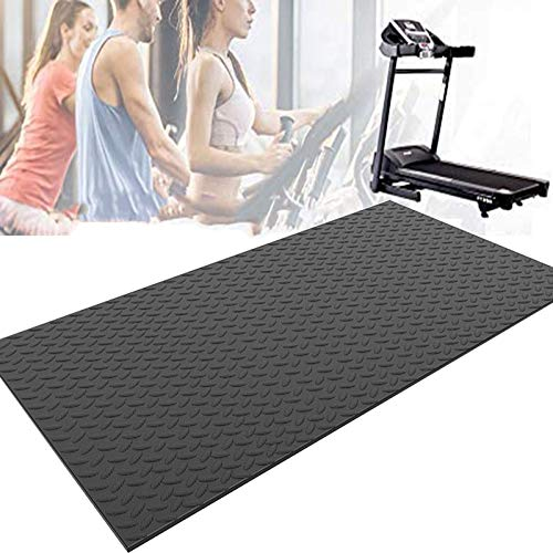 MNBVH Tappetino Antivibrazione Tapis Roulant, Tappetino per Tapis Roulant Insonorizzante, Antiscivolo Tappetino Tappetino Protettivo, Tappetini Attrezzi Fitness 175×80×1cm