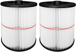 2 Pack Cartridge Filter for Shop Vac Craftsman 17816 9-17816 Wet/Dry Air Filter Replacement Part fit 5 Gallon & Larger Vacuum Cleaner