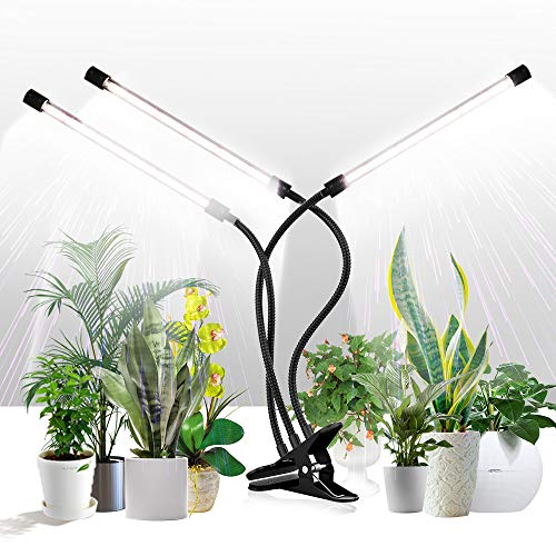 Grow Light for Indoor Plants,GHodec Tri-Head 126LED Clip Plant Lights with Flexible Gooseneck & Timer Setting 4/8/12H,5 Dimmable Levels
