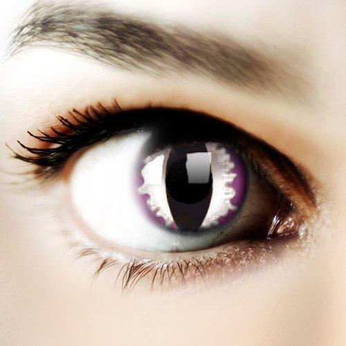 Halloween Kontaktlinse Lustige Linsen Purple Dragon Jährliche Einwegartikel 14 mm stärke 0.00 von ColourVUE