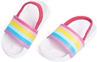 FUNKYMONKEY Toddler Boys & Girls Slides Sandals Kids Outdoor Beach Pool Water Shoes