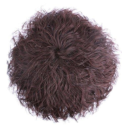 Topjin Clip 15 cm/15,2 cm en short pour femme Cheveux bouclés Cheveux 100% naturels Top Extensions de cheveux postiches