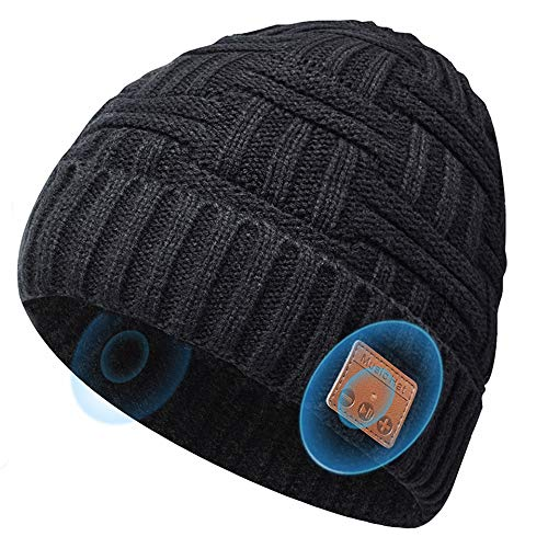 Bluetooth Beanie Hats Gifts For Men Women, Music Hats Beanie With Headphones Wireless Bluetooth Winter Hats, Stocking Stuffers For Mens Gifts Fits for Dad Husband Boyfriend Christmas Outdoor Sports