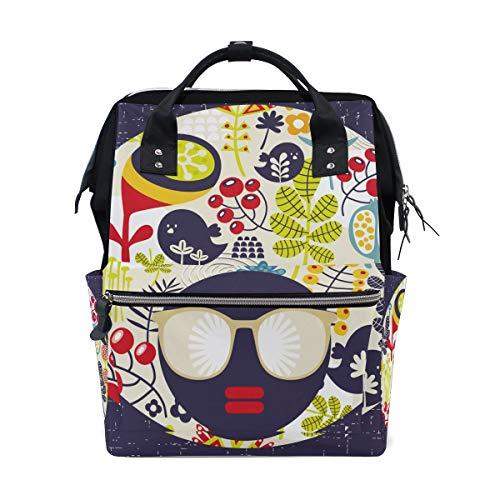 Alinlo Wickeltasche mit süßem Cartoon-Zuckerguss-Totenkopf-Design, mit großer Kapazität, Multifunktions-Kinderwagen-Gurte, Mumien-Tasche, für Reisen und Babypflege
