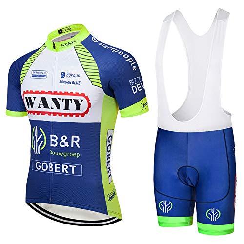 STEPANZU Ropa Ciclismo Verano Hombre Corta Maillot MTB + Pantalones Cortos Transpirable...