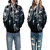 DISCOUNTL Couple Wear Sweater Impression numérique 3D à capuche Uniforme de baseball pour hommes et femmes en automne et en hiver, couple pull. - - L