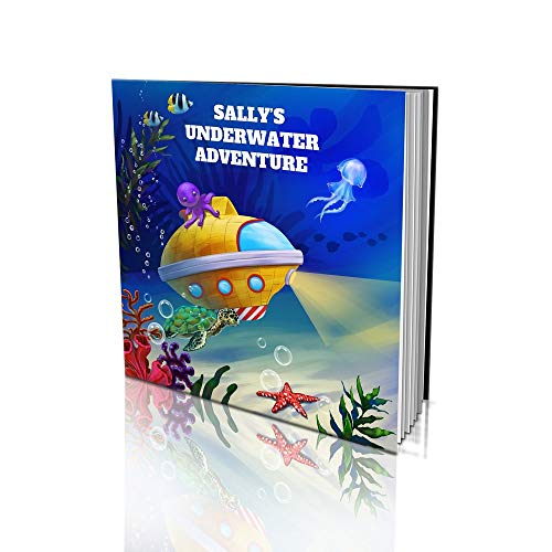 Personalized Story Book by Dinkleboo - 'The Underwater Adventure' - For Kids Aged 2 to 8 Years Old - A Story About Exploring The Sea And Meeting Magnificent Sea Creatures - Soft Cover (8'x 8')