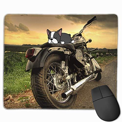 Incrociatore d'argento per moto antiscivolo Disegni unici Tappetino per mouse da gioco Tessuto nero Rettangolo Tappetino per mouse Tappetino per mouse in gomma naturale con bordi cuciti