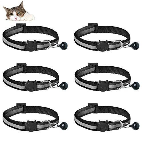 YHmall 6er Reflektierendes Katzenhalsband mit Sicherheitsverschluss,...