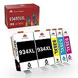 Toner Kingdom 934XL 935XL Cartuchos de Tinta Compatibles para HP 934XL 935XL para HP Officejet Pro 6230 6830 6820 6812 6815 6835 6810 (2 Negro, 1 Cian, 1 Magenta, 1 Amarillo)