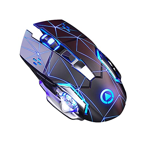Fdrirect 6 Buttons Adjustable Silent Game Mouse 2.4Ghz 1600DPI Portable Ergonomic Wireless Mouse Wireless Wrist Mouse Portable Cool Tablet Laptop Gaming Mouse Right Hand Wireless Mouse