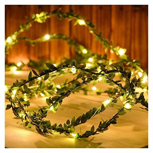 TIEHH Luces de Hadas con alimentación USB, lámpara de Vacaciones de Guirnalda de Hoja, Luces de Cadena de Hadas de Alambre de Cobre, para la decoración de Arte de la Fiesta de Bodas de Navidad
