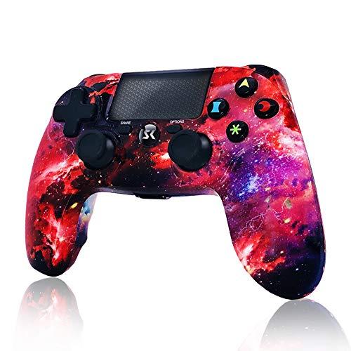 Mando PS4 Inalámbrico Galaxy Style Dual Shock 4 Six-Axis Gaming para Playstation 4 / PS4 Pro con función de Audio,Mini LED Indicador,Cable USB y Antideslizante (Galaxy)