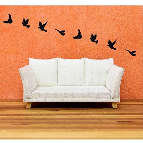 DEKADRON Arte de Pared de Metal, diseño de pájaros de Metal, decoración de Pared de Metal, decoración de pájaros de Metal, Regalo de inauguración de la casa, Arte de Pared de pájaros,