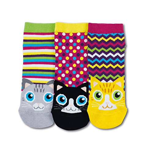 United Oddsocks - 3 Chaussettes Basses - Multicolore, Chats L5, Taille EUR 37-42