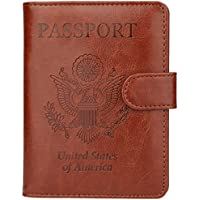 GDTK Leather Passport Holder Cover Case