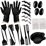 24 Pieces Hair Dye Coloring Kit,Inmorven Hair Dye Brush and Bowl Set With Mixing Spoon,Ear Cover,Gloves Hair Dye Tools for Hair Coloring Bleaching DIY Salon & Home Hair Coloring Cover Up Grey Hair.