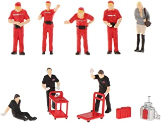 koolsoo 12 Pieces Race Medal 1/64 Miniature PVC People Building Layout Diorama