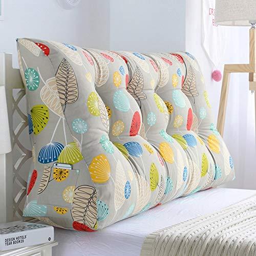 ASDFGH Gran cuña Triangular Cojín de Lectura Cabecera ALM Soporte Lumbar Tatami tapizados for el Dormitorio Sofá Cama Doble (Color : P, Size : 180x30x60cm(71x12x24inch))