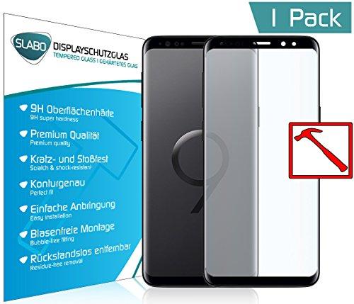 Slabo Premium Pellicola Protettiva in Vetro Temperato per Samsung Galaxy S9 Full Cover Pellicola Protettiva Schermo Tempered Glass Crystal Clear - Graffi Fino a 9H - Cornice Nero