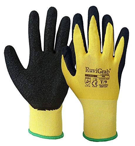 Ruvigrab 8436021582669, Guantes con Soporte Textil, 1, 10, Verde/Verde