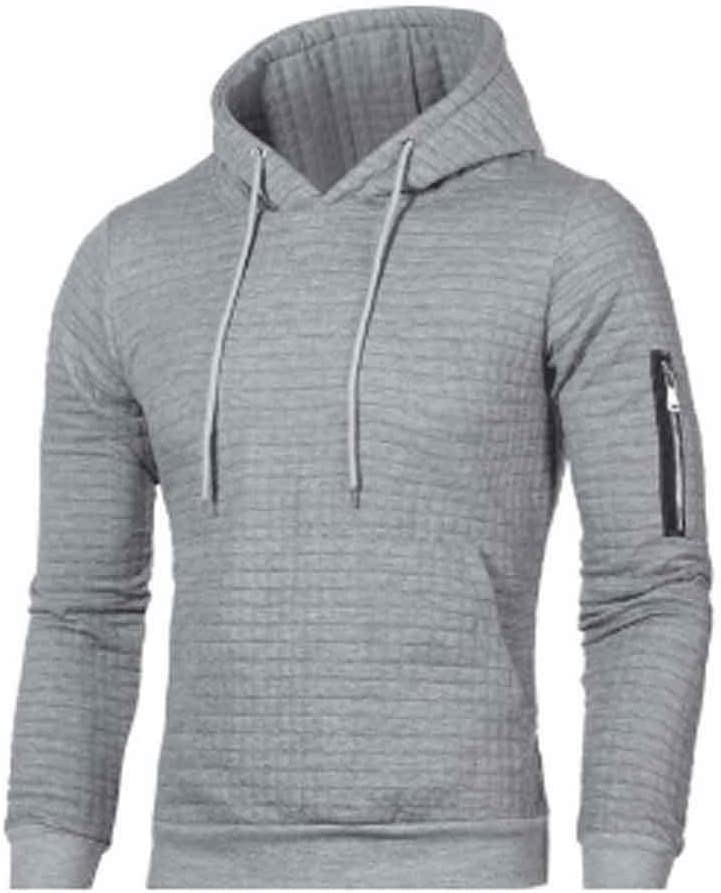 ZYING Sweater Men Solid Pullovers Men Casual Hooded Sweater Autumn Winter Warm Femme Men Clothes Slim Fit Jumpers (Color : Light Gray)