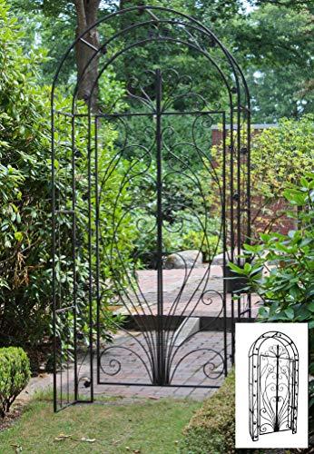 Garden Pleasure Garten Pforte, Schwarz, Rost-Optik