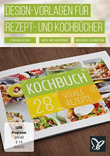 Design-Vorlagen für Rezept- und Kochbücher