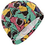 Like Moon Swimming Cap Bonnet de Bain Coloré Requin Océan Amusant Bonnet De Bain...